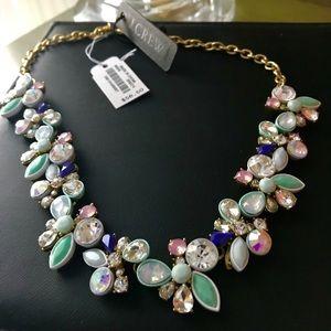 JCREW NWT faux gemstone necklace